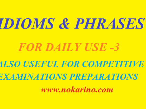 Idioms and Phrases-3